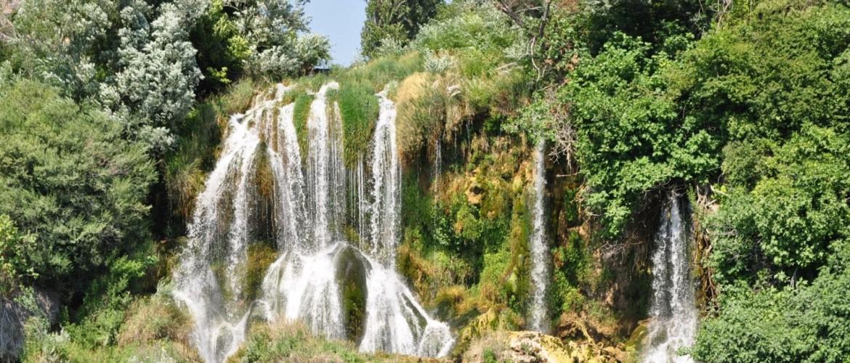 Waterfall in a forest in Croatia