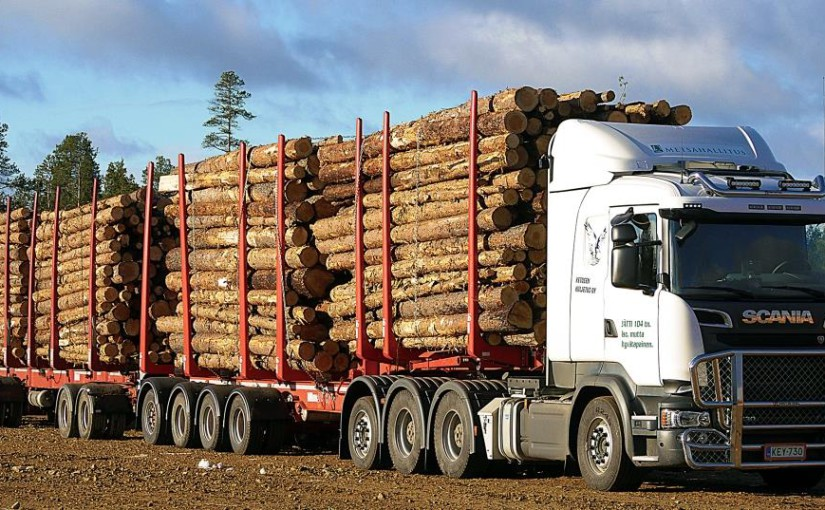 Metsähallitus (Finland): Giant truck saves money and nature during timber transport
